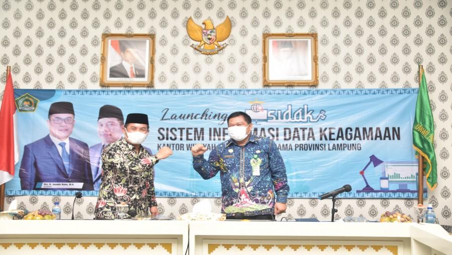 Kanwil Kemenag Lampung Luncurkan SIDAK Secara Virtual