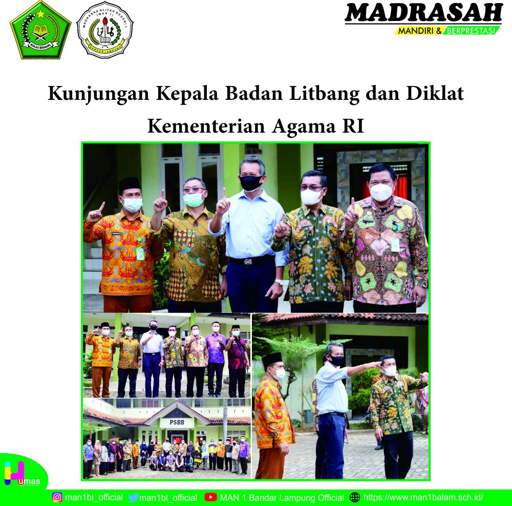 MAN 1 Bandar Lampung Sambut Kepala Badan Litbang dan Diklat Kementerian Agama RI